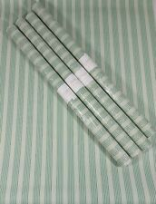 Striped Wallpaper Lot Green White Ivory Pin Thin Vertical Stripe 4 Double Rolls