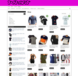 FULLY-STOCKED-T-SHIRT-WEBSITE-WITH NEW DOMAIN & 1 YEARS HOSTING