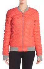 Bench Daysplash Water Repellent Jacket Coral Orange Grey Sporty Thinsulate M NEW