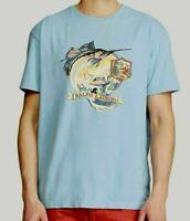 Polo Ralph Lauren Men's  SZ  L Graphic Logo Anglers Club Fishing T-Shirt Blue