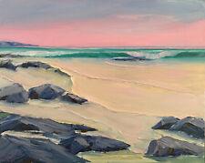 ALIZARIN HORIZON Original Seascape Expression Oil Painting 16x20 102119 KEN