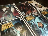 Ultimate Iron Man #1-5 + FOIL VARIANT COVERS Lot of 6 (Marvel 2007) NM+ Set