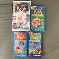 Disney Winnie The Pooh VHS Lot Of 4 Videos: Sharing And Caring, Blustery Day,