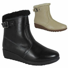 Zip Wedge Synthetic Ankle Boots for Women
