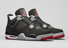 2019 Nike Air Jordan 4 Retro OG SZ 14 Black Fire Red Cement Grey BRED 308497-060