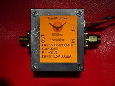 TurulRC RF wideband High Power Amplifier 5000-6000 MHz 5.8G 5 - 6 GHz 2W + plots