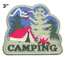 "Souvenir Patch ""CAMPING"" State Tourism National Park Iron-On Appliques"