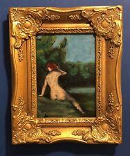 'Garden Nymph'  Original French NUDE female artwork Classical Figurative Style