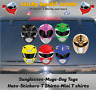 Mighty Morphin Power Rangers 4 inch window vinyl decal sticker's lot