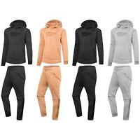 NEW Men Chest Pocket Fleece Sweatsuit Track Suit Jogger Jacket Hooded Pants