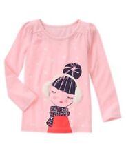 Gymboree Girls Fair Isle Flurry Pink Long Sleeve Shirt Size 5 Nwt