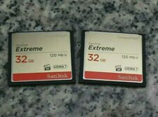 Lot of 2 SanDisk Extreme 32GB 120MB/s UDMA 7 CF Cards Tested Free Shipping