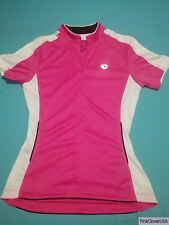 Pearl Izumi Pink & White Reflective Womens Cycling Jersey size Medium