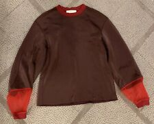 TOGA PULLA Sweatshirt Top Sweater Mesh Red Size:38