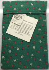 Handcrafted Microwave Baked Potato Bag With Instructions Green With Ladybugs