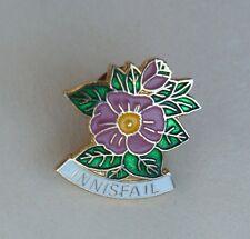 Innisfai Alberta Canada Pink Wildrose Lapel Souvenir PIN