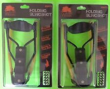 2 High Velocity Folding Wrist Slingshot Hunting Emergency Survival Prepper