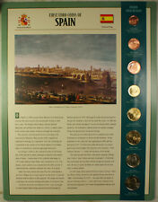 First Euro Coins of Spain 8 Coin Set 1999-2002