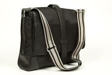 Canali $795 NWT Black Nylon Leather Carry-On Briefcase Attache Case Luggage