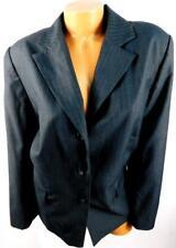 Dressbarn gray lined faux pockets long sleeve button down blazer jacket 18W