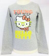 T-shirts, hauts et chemises gris avec des motifs Logo pour fille de 2 à 16 ans en 100% coton