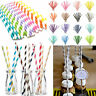 25pcs Paper Drinking Straws Striped Straws for Wedding Birthday Party Decoration