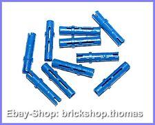 Lego Technik 10 x Verbinder blau - 6558 - Technic Connector Pins Blue NEU / NEW