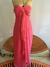 COAST Pink Long Cocktail Dress Silk  14 BARGAIN