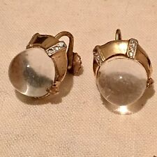VINTAGE ALFRED PHILIPPE TRIFARI STERLING JELLY BELLY BALL SCREWBACK EARRINGS