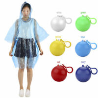 HOT KIDS PONCHO CHILDS RAINCOAT HOODED WATERPROOF DISPOSABLE CLIP KEYRING BALL