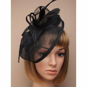 Black Headband Aliceband Hat Fascinator Weddings Ladies Day Race Royal Ascot