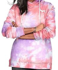Small Victoria's Secret PINK Crossover Hoodie Tunic Tie Dye Tequila Pink/Purple