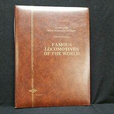 Leaders Of The world FAMOUS LOCOMOTIVES OF THE WORLD stamp Book huge collection