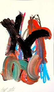 CORBELLIC ABSTRACT ORIGINAL EXPRESSIONISM MODERN ROAD FORK COLLECTIBLE FINE ART
