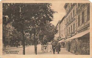 Postcard Ephemera Tilsit - Hohestraße m. Cafe Rautenberg Berlin Germany DEU