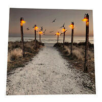 7 LED Light Up HD Seashore Beach Scene Wall Home Decor Canvas Picture Gift Art