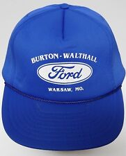 Vtg 1990s FORD Automobile Advertising BURTON WALTHALL WARSAW SNAPBACK HAT CAP