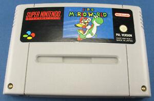 Super Nintendo Spiel - Super Mario World - PAL - SNES