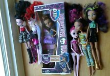 Mattel Monster High Doll Lot of 6 Rebecca Steam New, 5 Used Dolls Some Clothes