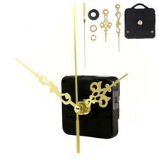 DIY Silent Clock Quartz Movement Mechanism Gold Black Hands Replacement Part Set