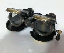 VINTAGE pieghevole tasca in ottone Monoculare Telescopio binoculare Londra 1857 Marittimo