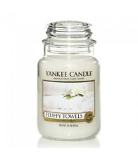 YANKEE CANDLE candela profumata giara grande Fluffy Towels durata 150 ore