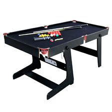 Foldable Professional Snooker Table Pool Billiard Set with Black Cover