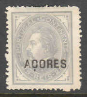 PORTUGAL AZORES 38a PERF 13-1/2 UNUSED $150 SCV VF CENTERING