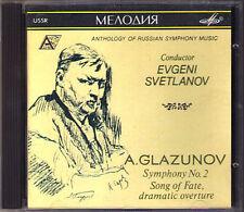 Evgeny SVETLANOV: GLAZUNOV Symphony No.2 Song of Fate MELODIYA CD Glasunow