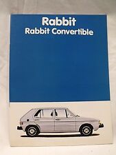 Original 1981 VW VOLKSWAGEN RABBIT HATCHBACK & CONVERTIBLE Sales Full Catalog
