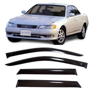 For Toyota Mark II (X90) 1992-1996 Side Window Visors Rain Guard Vent Deflectors