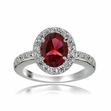 Halo Ruby Fine Rings