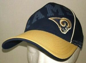New Youth St Louis Rams Adidas Cap NFL Fitted Mesh Child Boy Girl Hat Fit Max 70