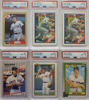 Wade Boggs | 6 Card LOT | PSA Graded  **HOF**  ***FREE SHIPPING***